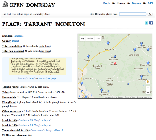 Open Domesday Tarrant Monkton